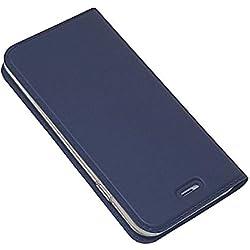 DENDICO Cover per Apple iPhone 6 / iPhone 6s, Portafoglio Libretto Bumper Portafoglio Custodia, Magnetica Flip Custodia Caso Libro e TPU Silicone con Funzione Supporto - Blu