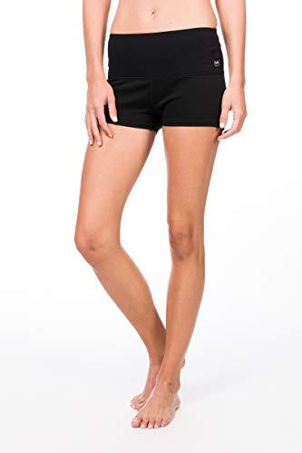 super.natural Bequeme Damen Shorts, Mit Merinowolle, W SUPER SHORTS, Größe: XS, Farbe: Schwarz
