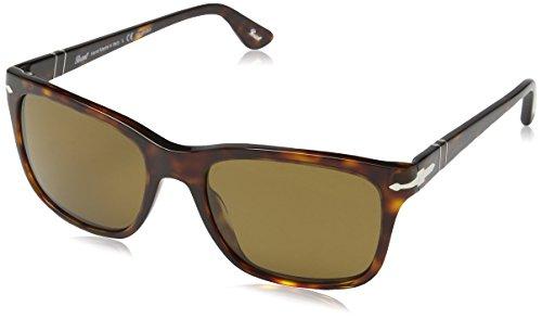 Persol Herren 0PO3135S Sonnenbrille, Braun (Havana 24/57), One size (Herstellergröße: 55)
