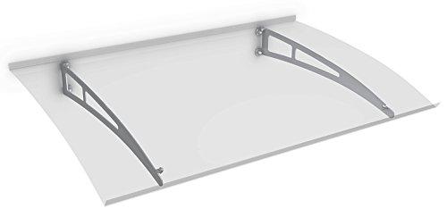 Schulte Vordach Haustür Überdachung 140x90 cm Edelstahl rostfrei Polycarbonat Durchgehend und...