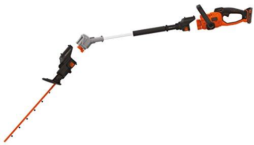 Black & Decker SeasonMaster 2-in-1 Akku-Heckenscheren Kombi-Set (18V, bestehend aus Heckenschere und Verlängerungsstab, leichtes schneiden von hohen Hecken, inkl. 2.0 Ah Akku und Ladegerät)