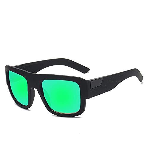Herren Sonnenbrillen Sonnenbrille Polarisierte Linse Teardrop Herren Sonnenbrille Klassisches Design UV Cut Wandern Bergsteigen Angeln Golf Outdoor Sports LTJHJD (Color : Grün, Size : Kostenlos)