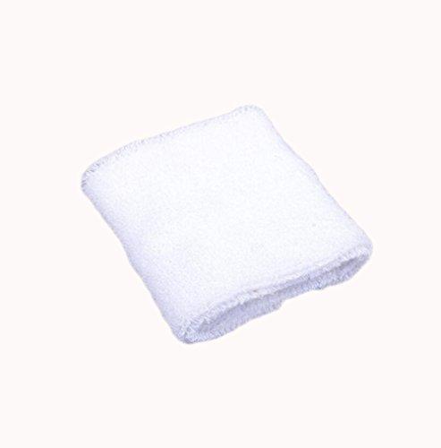 Dosige Sport Schweißband Handgelenk Handtuch Armschienen Tennis Badminton Gym Armband Wrist Wraps für Männer Frauen Damen Mädchen Weiß -