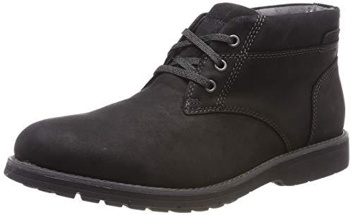 Hush Puppies Herren Beauceron Plain Toe Chukka Boots, Schwarz (Black 000), 42 EU