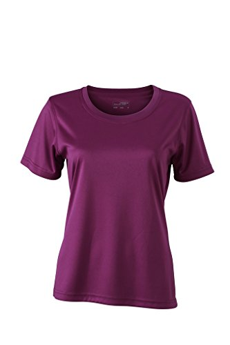 Damen Jersey Sport T-Shirt Purple