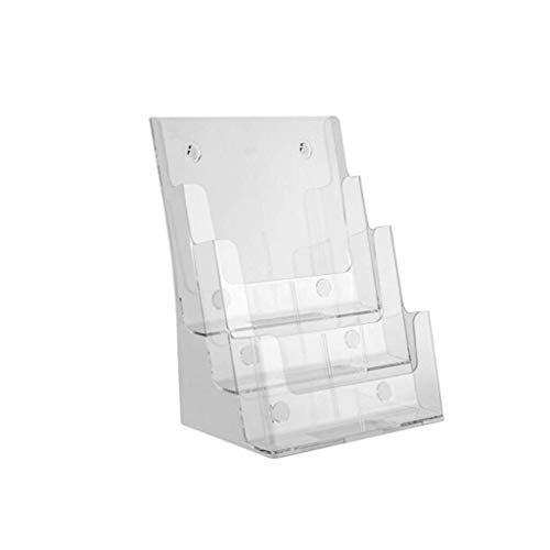 KISlink Dreischichtiger A4-Desktop-Datenständer An der Wand befestigter Zeitungsständer für Broschüren ++ Wand Home Desktop