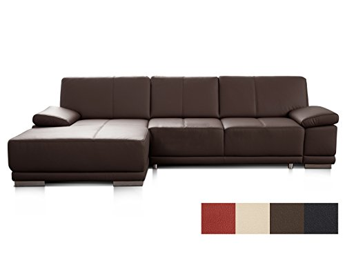 Cavadore 3053 Ledersofa in L-Form Corianne / Couch L-Form in Echtlder und modernem Design / Inkl....