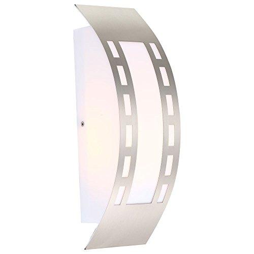 7 Watt LED Außen Wand Leuchte Lampe Beleuchtung IP44 Edelstahl warmweiß