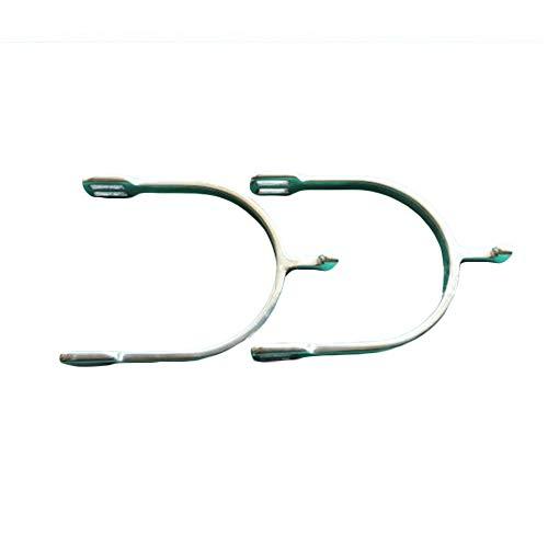 FIYOMET Spurs Ritterausrüstung für Reitpferde aus rostfreiem Stahl