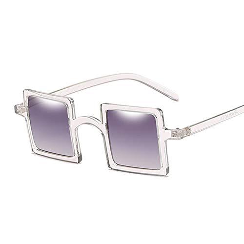 YUHANGH Kleine Quadratische Sonnenbrille Frauen Männer Luxus Frame Steampunk Sonnenbrille Weiblich