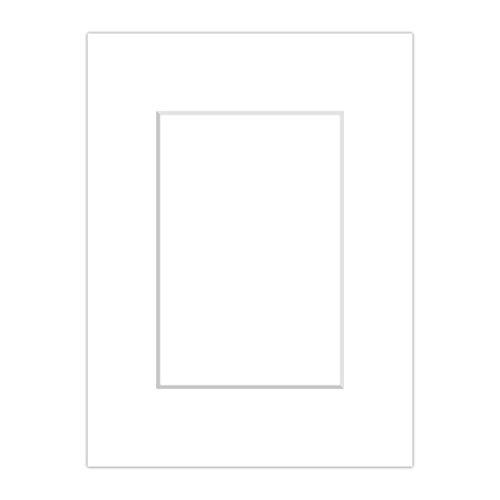 10 Premium Passepartouts - Weiß (Schneeweiß) - Außen: 40x50 / Innen: 30x40 - 1,4mm stark -...