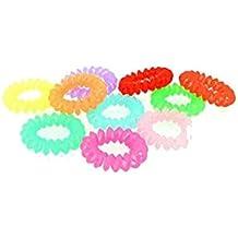 –Juego de 10gomas Cabello silicona–, Multicolor–Aspect inalámbrico teléfono–Accesorios attacher pelo