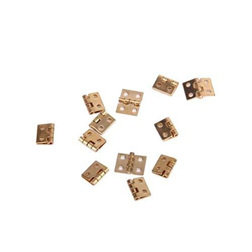 Romote 01.12 Puppenhaus Mini Schrank Schublade Scharnier Metall-Schmetterling Scharniere Kabinett-Fach-Tür-Kolben-Scharniere Golden 12st -