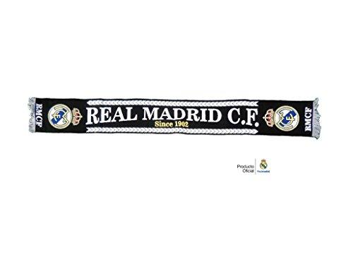 REAL MADRID BUFANDA OFICIAL NEGRA DESDE 1902