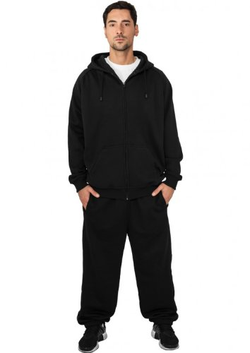 Urban Classics Jogginganzug Suit Sweatsuit Trainingsanzug blanko Blank schwarz grau dunkelgrau charcoal S bis 5XL Farben Männer Herren Sportanzug Fitness Tanzanzug Dance (L, schwarz)
