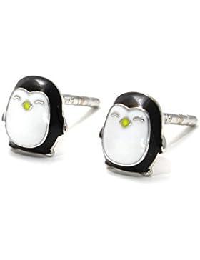 Ohrstecker Pinguin aus echtem Silber