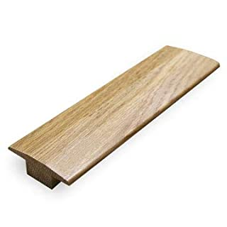 Solid Oak 18mm T Section Door Bar Threshold Moulding Pre Finished or Un Finished 900mm Trim (Pre Finished (Lacquered Oak)