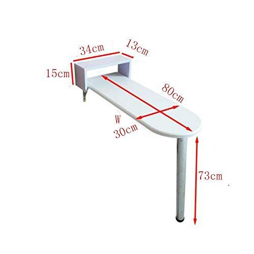SED Multifunktions Kleine Tabelle Haushaltsklappbar Home High Side Dining Cafe Bar Küche in Schlafzimmer Einfache Studie Tisch,80 * 30 * 73 cm