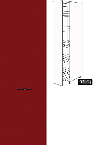 #Küchenschrank Hochschrank Apothekerschrank 207cm hoch FE (Breite 30cm, 58 Burgund)#