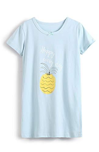 HOYMN Nachthemden für Mädchen Prinzessin Baumwolle Nachthemd Süß Obst Nachtwäsche für 3-12 Jahre