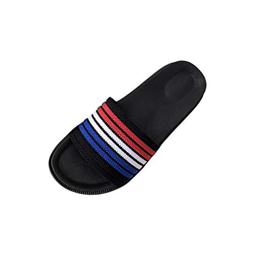 Pantofole piatte a righe per donna, honestyi ciabatte da donna - scarpe bagno flip flops da donna pantofola donne infradito morbido antiscivolo pantofole da casa