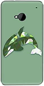 The Racoon Grip printed designer hard back mobile phone case cover for HTC One 802D. (Emerald Le)