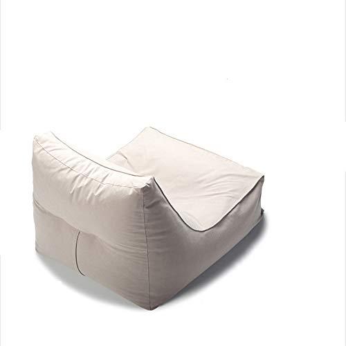 YLOVOW Sitzsackbezug, Stuffable Zipper Beanbag zum Organisieren von Kinder-Plüschtieren, Stoff aus Baumwolle und Leinen, EPP-Polsterung, für Kinder bis Erwachsene,Silber