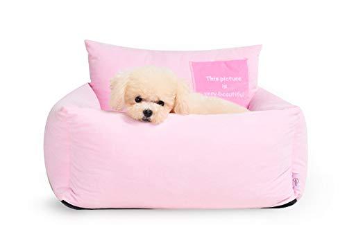 Lamzoom Haustierbett für kleine mittelgroße Hunde Katzen mit weichem Kissen Haustier Bett für Hunde und Katzen wendbares Kissen innen maschinenwaschbar