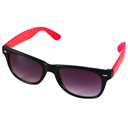 Chic-Net Sonnenbrille Nerd zweifarbig Unisex Brille lila getönt 400 UV Wayfarer rot