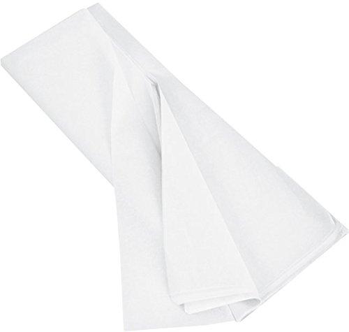 KGpack Seidenpapier weiß - 50 x 75 cm, 17 g/qm, 20 Blatt. Tissue Papier zum Pompons Papierblumen Basteln und zur Dekoration