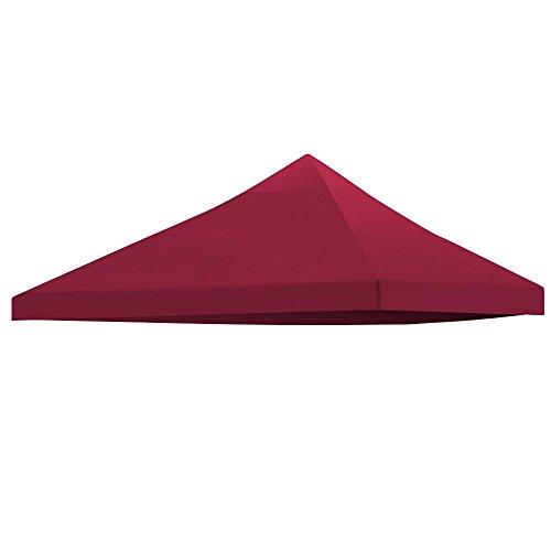 Yaheetech Toile de Toit Rechange pour Pavillon Tonnelle Tente 3x3m Jardin Outdoor avec Ventilation
