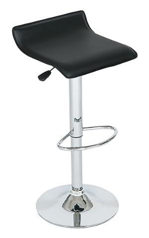LEVV Chaise de bar moderne Noir