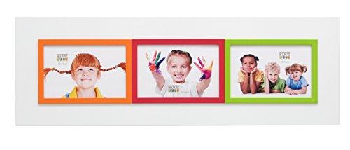 Deknudt Frames S67JK1-P3-10.0X15.0 Bilderrahmen, für 3 Bilder, 58 x 20 x 1 cm, Weiß