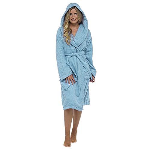 Frauen Winter Plüsch verlängert Schal Bademantel Hause Kleidung langärmelige Robe Mantel