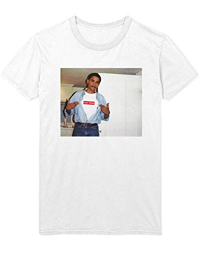 T-Shirt Obama Wears Supreme Fuck Trump Parody H143012 Weiß XXL