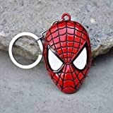 #10: Farraige SpiderMan Face Superhero Character Collectible Metal Keychain | Keyring | Key Ring | Key Chain for your Car Bike Home Office Keys | for Men Women Boys Girls (Red)