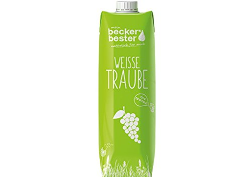100% Traubensaft (Beckers bester Weißer Traubensaft Tetrapak EW, 6er Pack (6 x 1 l))
