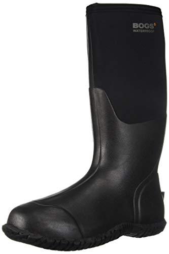 Bogs Womens Carver Tall Black Rubber Boots 41 EU