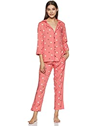 Indigo Women's Rayon Regular Fit Night Suit