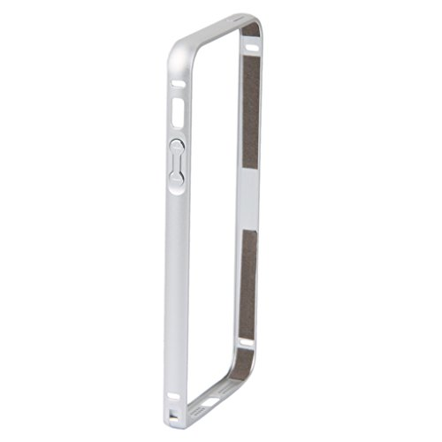 Generic 0.7mm Metal Bumper Frame Case Protective Cover for iPhone 5 5S - Silver-10020630MG