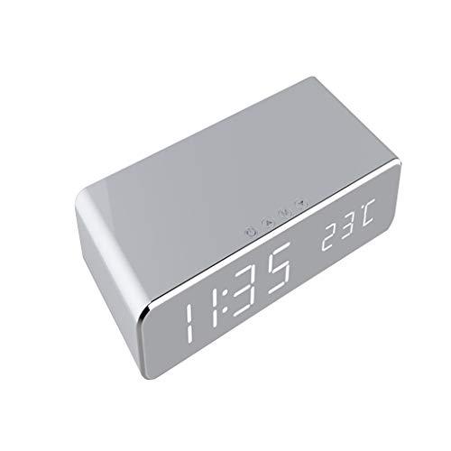 Digitales Weckerthermometer, 3 in 1 Elektronische Nachtuhr/Kabelloses Ladegerät Von R-WEICHONG