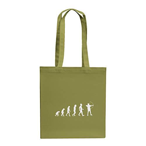 Texlab Bogenschütze/Bogenschießen / Archer Evolution - Stoffbeutel, oliv (Grüne Bogenschütze Kostüm)