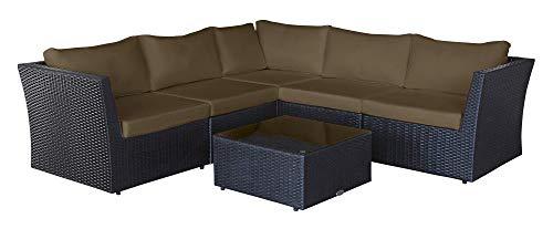 Baidani Designer Sitzgruppe Atmosphere, 1 Ecksofa, 1 Tisch mit Glasplatte, 2 Bezugsgarnituren, schwarz kaufen  Bild 1*