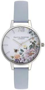 Olivia Burton Womens Quartz Watch, Analog Display and Leather Strap OB16EG114