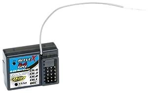 Carson 500501512 Reflex Pro - Receptor 4 canales, 2,4 GHz Importado de Alemania