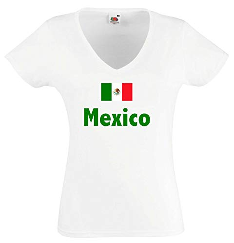 world-of-shirt Mexico Damen T-Shirt WM 2014|w-m - Tri De El Mexico