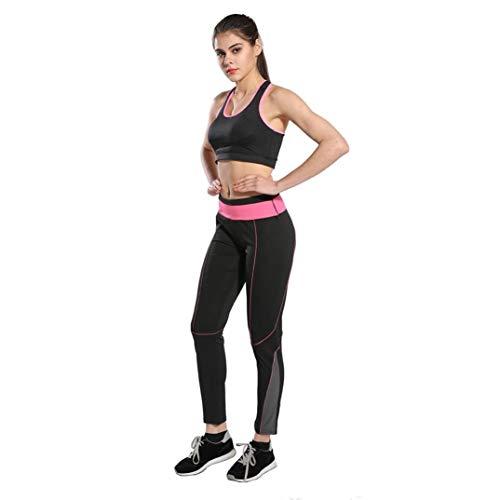 Apragaz Hohe Taillen-Yoga-Hosen Der Frauen Persönlichkeit Optional Style Workout Sportliche Trainingshose Modische Stretch Weiche Bequeme Dünne Gamaschen (Color : Pink-04, Size : Large)