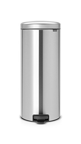Brabantia Treteimer mit Inneneimer aus Kunststoff, stahl, Matt Stahl, 30 Liter