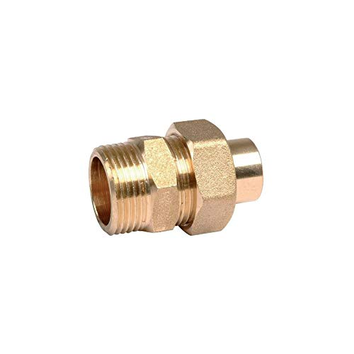 Raccord Union Fer / Cuivre - Male / Femelle (L341 G-cu) - Diametres 40/49 - 42 mm