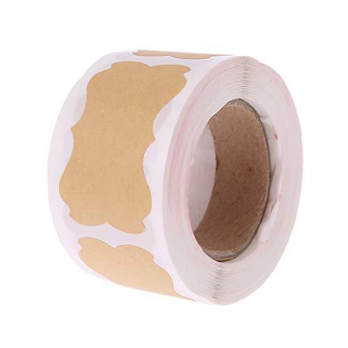 age-Etiketten aus Kraftpapier, selbstklebend, für Geschenk, Kuchen, Backen, Verpackung, Basteln ()